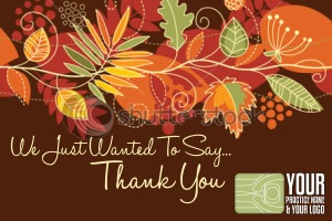 Dental marketing postcards thanksgiving cards